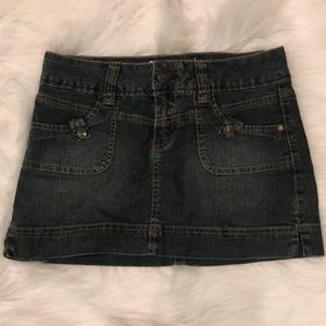 Stretch Jean Miniskirt